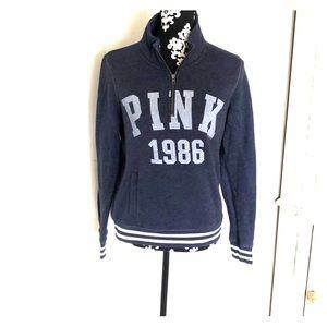 Half zip PINK sweatshirt